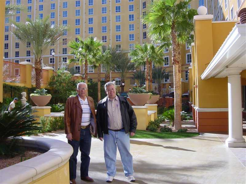 The Frist Dad and the Mayor in the Grand Desert Courtyard