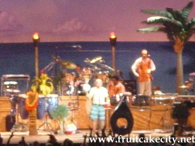 Jimmy Buffett on stage at Dallas