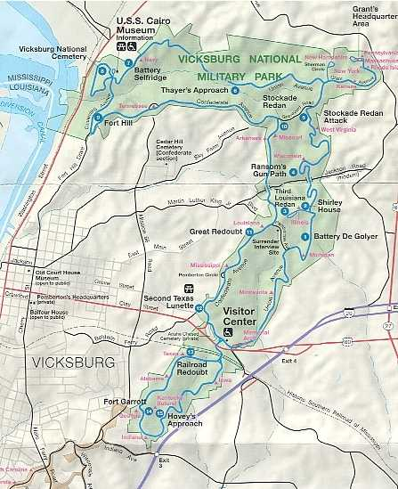 Vicksburg National Military Park Map